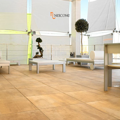Corten By Tau Rectified Porcelain Tiles Similar To Metal